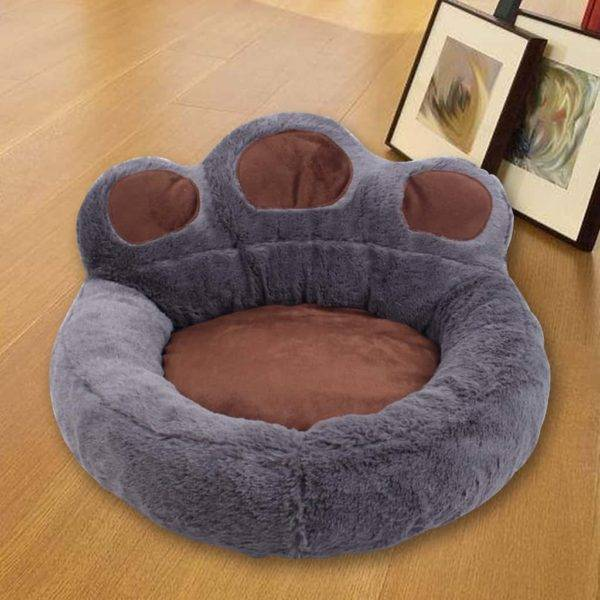 Soft Bear Paw Dog Bed - Warm & Comfy