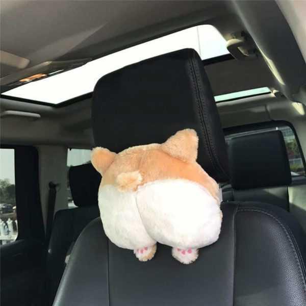 Corgi Butt Car Neck Pillow - A Perfect Gift Idea For Any Corgi Lover