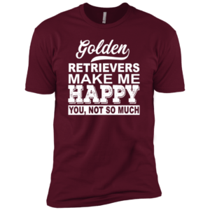 Golden Retrievers Make Me Happy Premium Tee