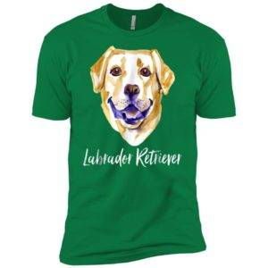 Yellow Lab Dog Lover Labrador Retriever Dog Face Premium Tee