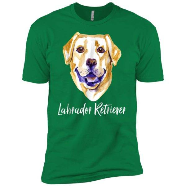 Yellow Lab Dog Lover Labrador Retriever Dog Face Premium Tee -
