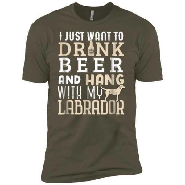 Labrador Dad Funny Father's Day Lab Retriever Dog BeerPremium Tee