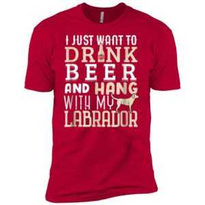 Labrador Dad Funny Father's Day Lab Retriever Dog BeerPremium Tee