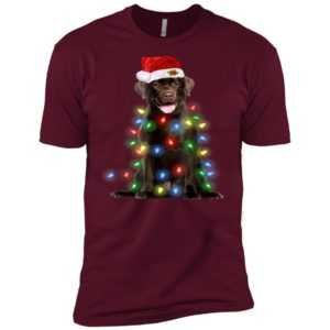 Christmas Lights Labrador Retriever Dog Premium Tee -