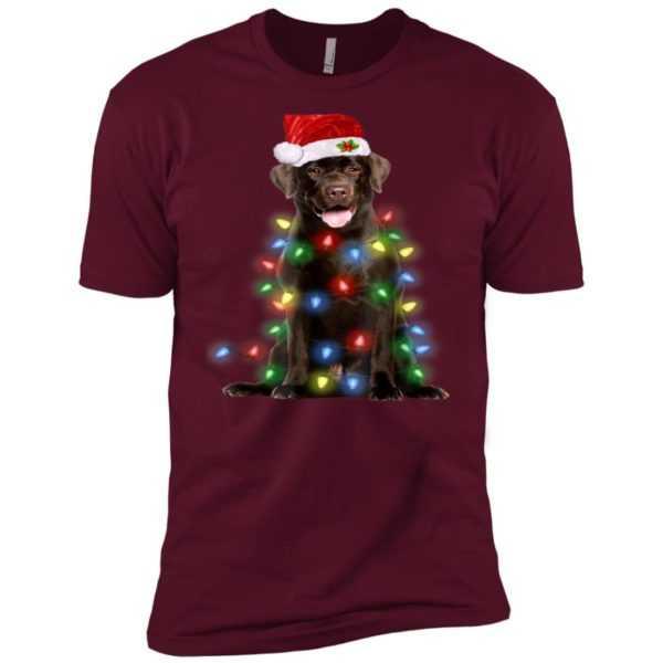 Christmas Lights Labrador Retriever Dog Premium Tee