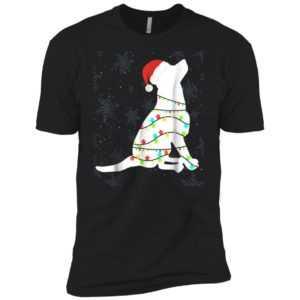 Christmas Lights Labrador Retriever Premium Tee - Dog Lover Gift