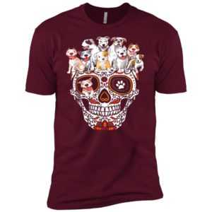 Pitbull Mom Sugar Skull Premium Tee
