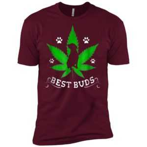 Best Buds Funny Pitbull Weed Dog Premium Tee