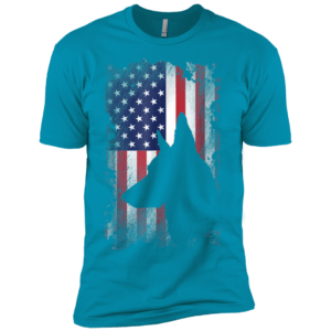 German Shepherd American Flag Shirt USA Patriotic Dog Gift Premium Tee