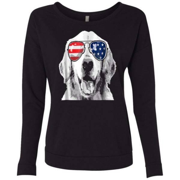 Patriotic Golden Retriever Dog 4th of July Neck Sweatshirt