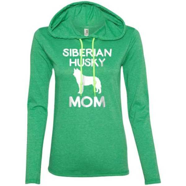Siberian Husky Dog Mom Fitted T-Shirt Hoodie