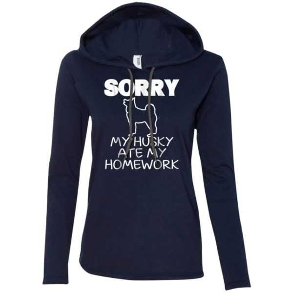 Funny Sorry My Husky Ate My homework Fitted T-Shirt Hoodie