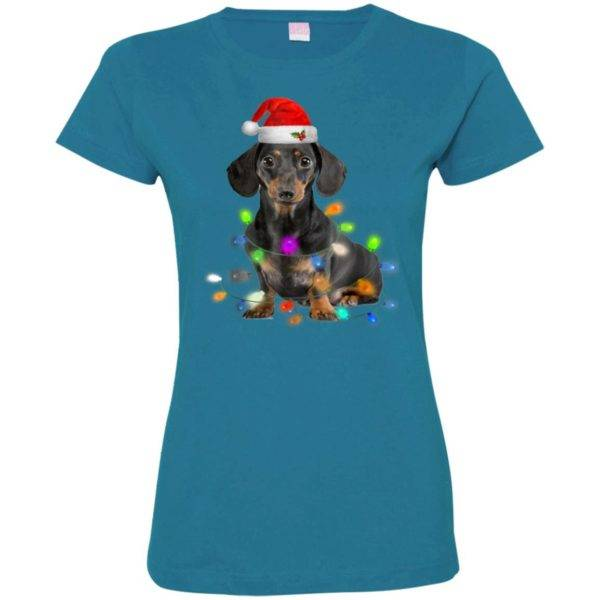 Dachshund Christmas Fitted Tee – Gifts Cute Dog Lovers