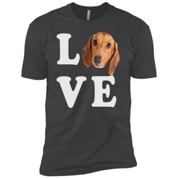 I Love My Wiener Dog Cute Premium Tee – Dachshund Gift