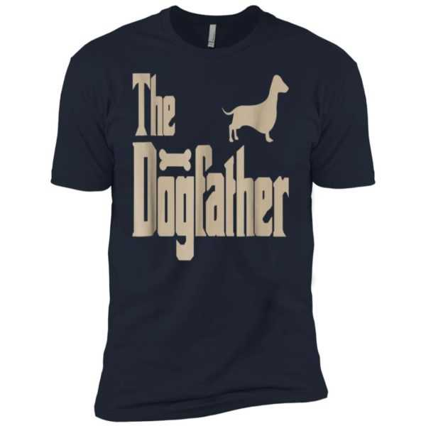 Dachshund The Dogfather Premium Tee – Dog Lovers Gifts