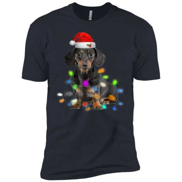 Dachshund Christmas Premium Tee – Gifts Cute Dog Lovers