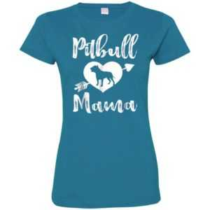 Womens Pitbull Mama Fitted Tee -
