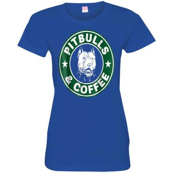 Pitbull and Coffee Fitted Tee
